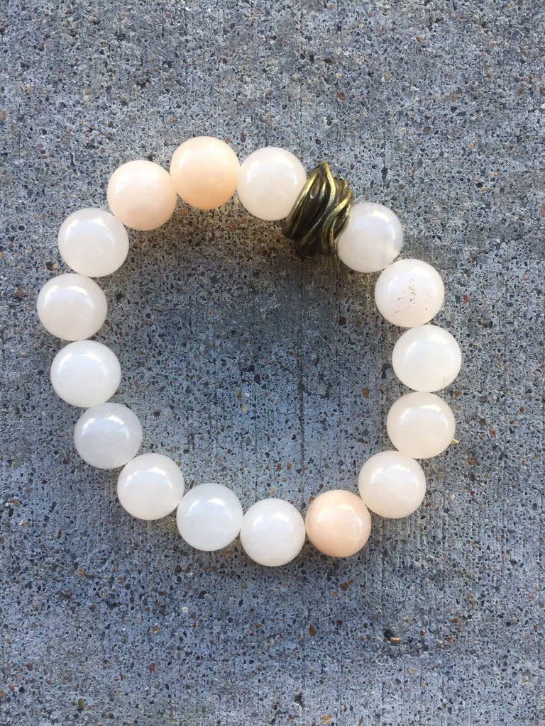 Peach Aventurine Stretch Bracelet
