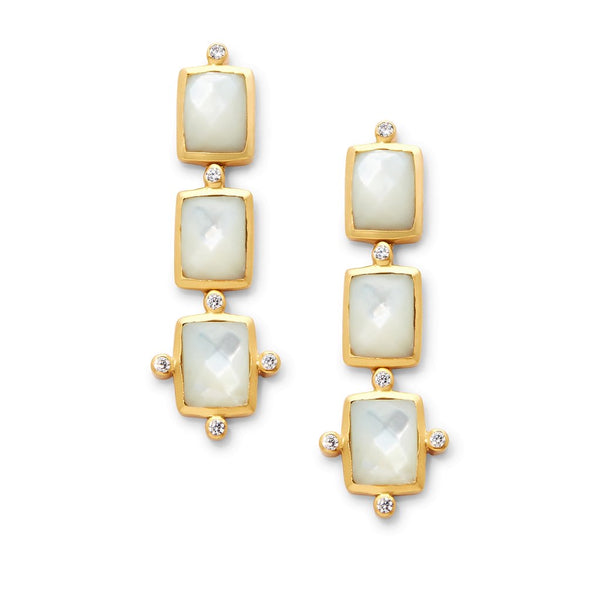 Clara Tier Earrings in Mother of Pearl