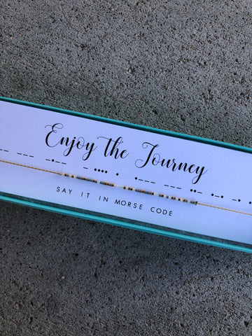 Enjoy the Journey | Morse Code Necklace