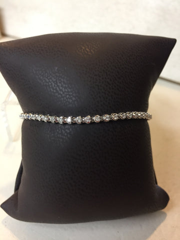 Diamond Tennis Bracelet | 14kt White Gold | 1.00 TCW
