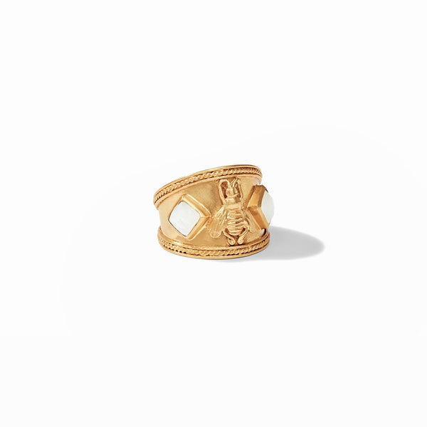 Bee Crest Ring in Gold