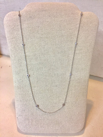 Diamond by the Yard Necklace | 14kt White Gold
