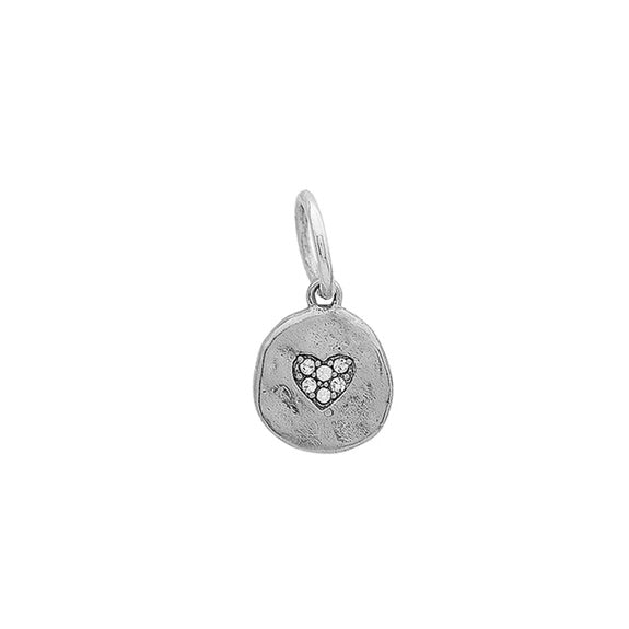 Heart Illuminations Charm in Sterling Silver