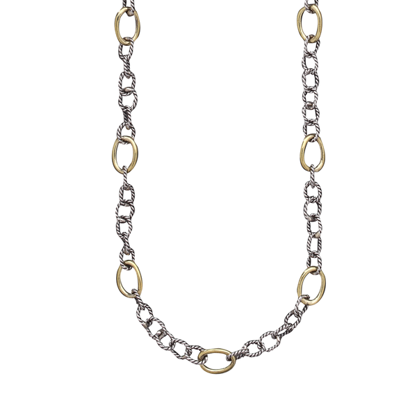 Twisted Link Chain with Brass Rings