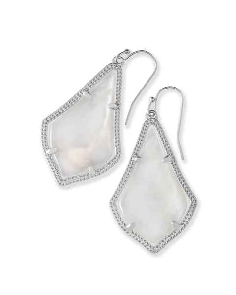 Alex Silver Drop Earrings in Ivory Mother of Pearl