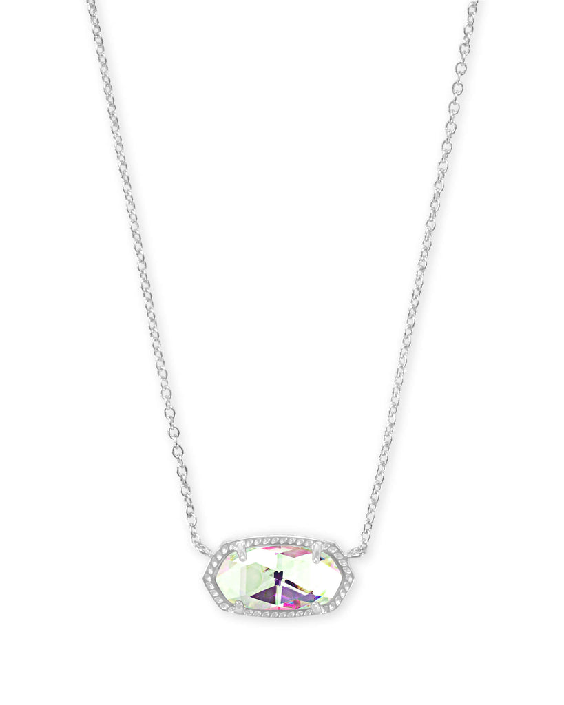 Elisa Silver Necklace In Dichroic Glass