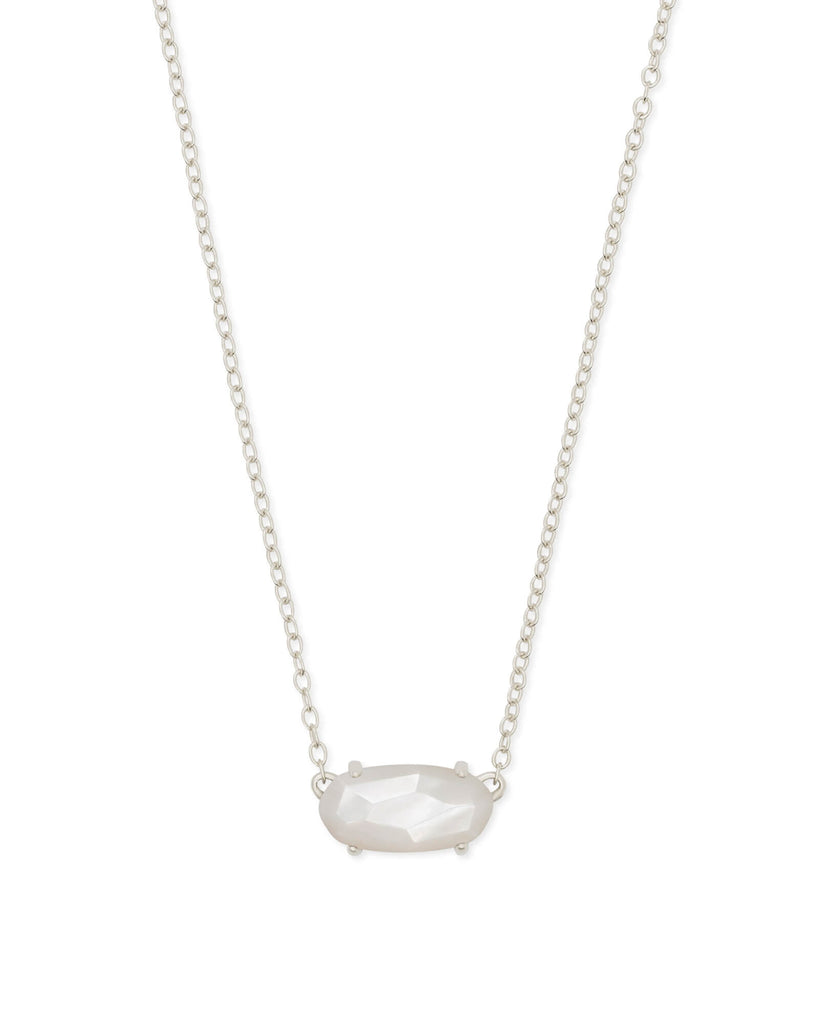 Ever Silver Necklace in Ivory Mother of Pearl