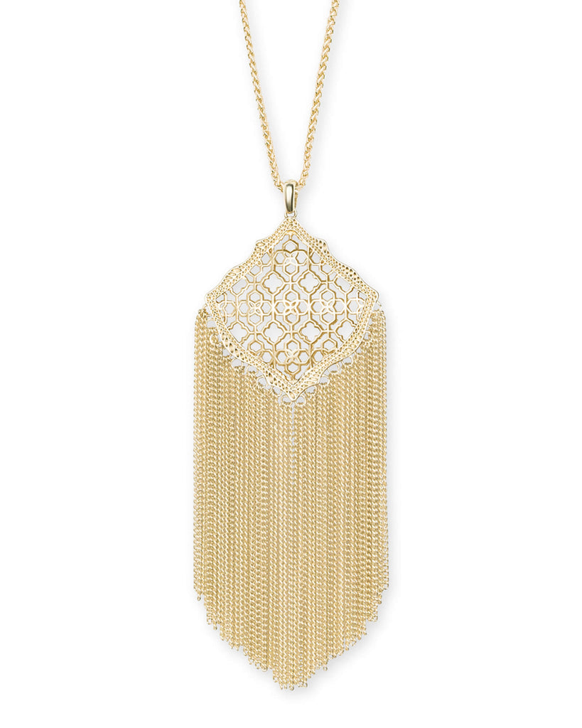 Kingston Adjustable Long Necklace in Filigree