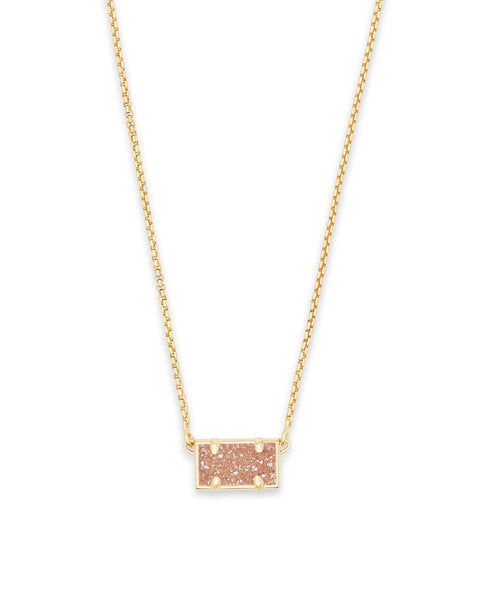 Pattie Gold Pendant Necklace In Sand Drusy