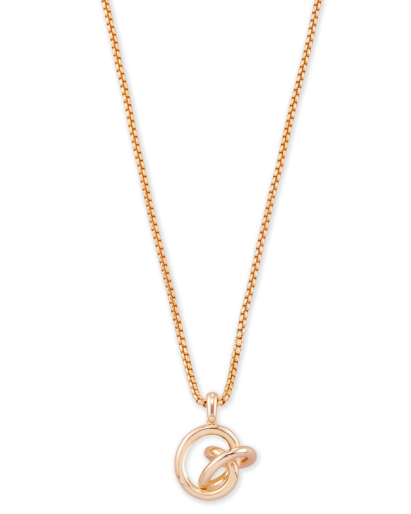Presleigh Rose Gold Love Knot Pendant Necklace