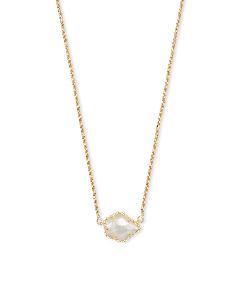 Tess Gold Necklace in Ivory Mother of Pearl