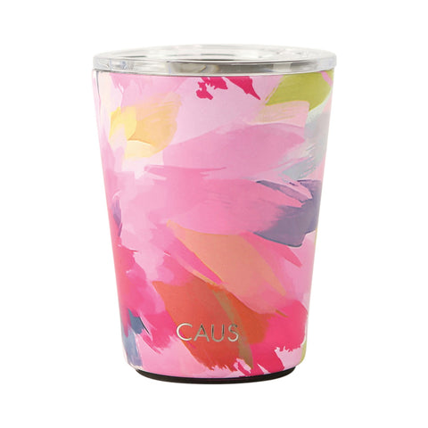 Watercolor Floral Coffee Tumbler | Pet Rescue & Adoption