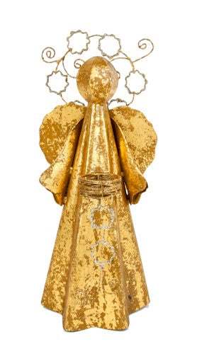 Small Gold Archangel with Tea Light