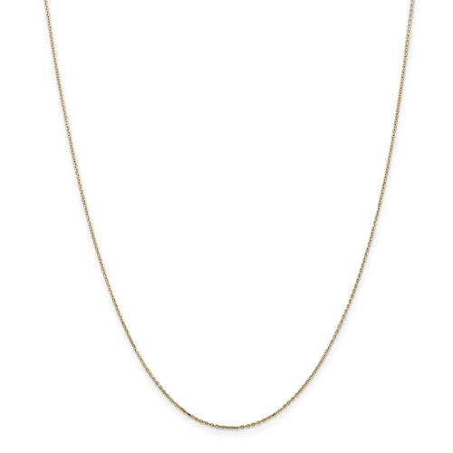 14k .8mm Diamond Cut Cable Chain