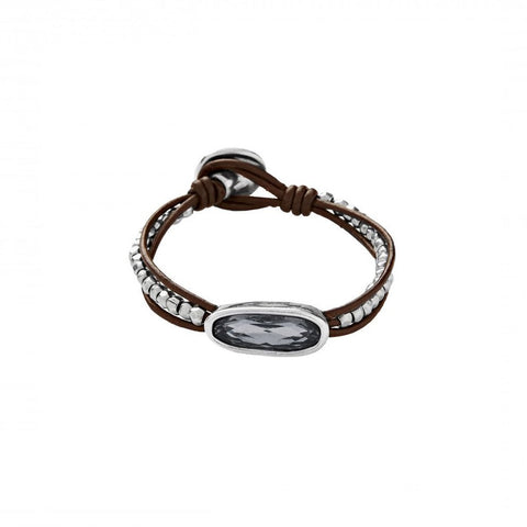 The Tribe Leather & Swarovski Bracelet