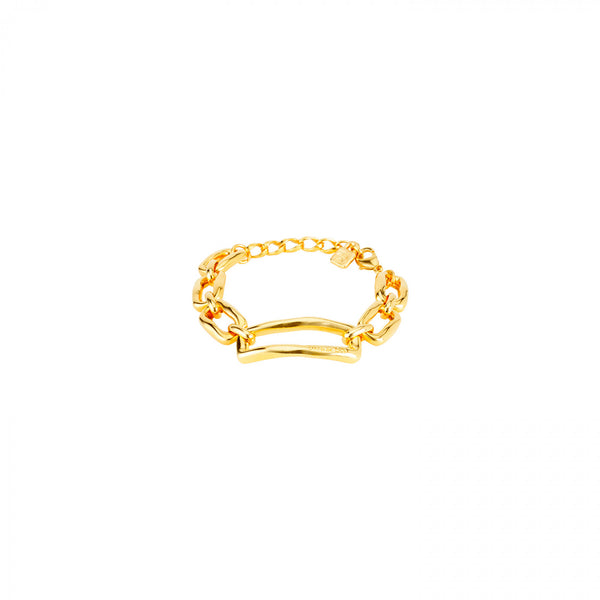 Gold Chain by Chain Bracelet