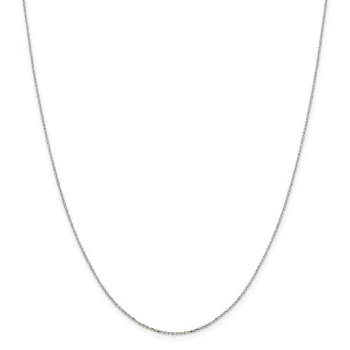 Sterling Silver 1mm 8 Sided Diamond Cut Cable Chain