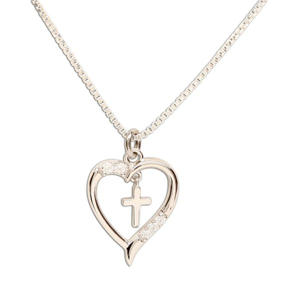 Dancing Cross in Heart Necklace