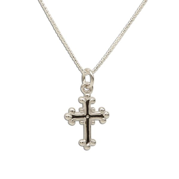 Sterling Silver Large Cross Necklace
