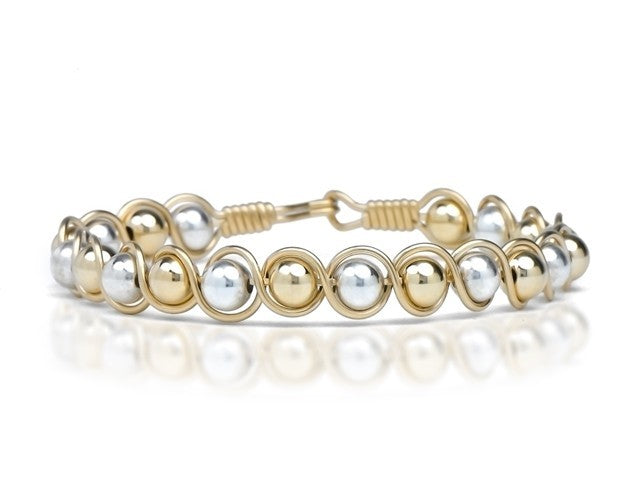 Gold Filled & Silver Bead Bracelet