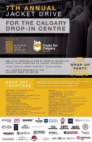 Pints and Jacket Drive for The Calgary Drop-In Centre