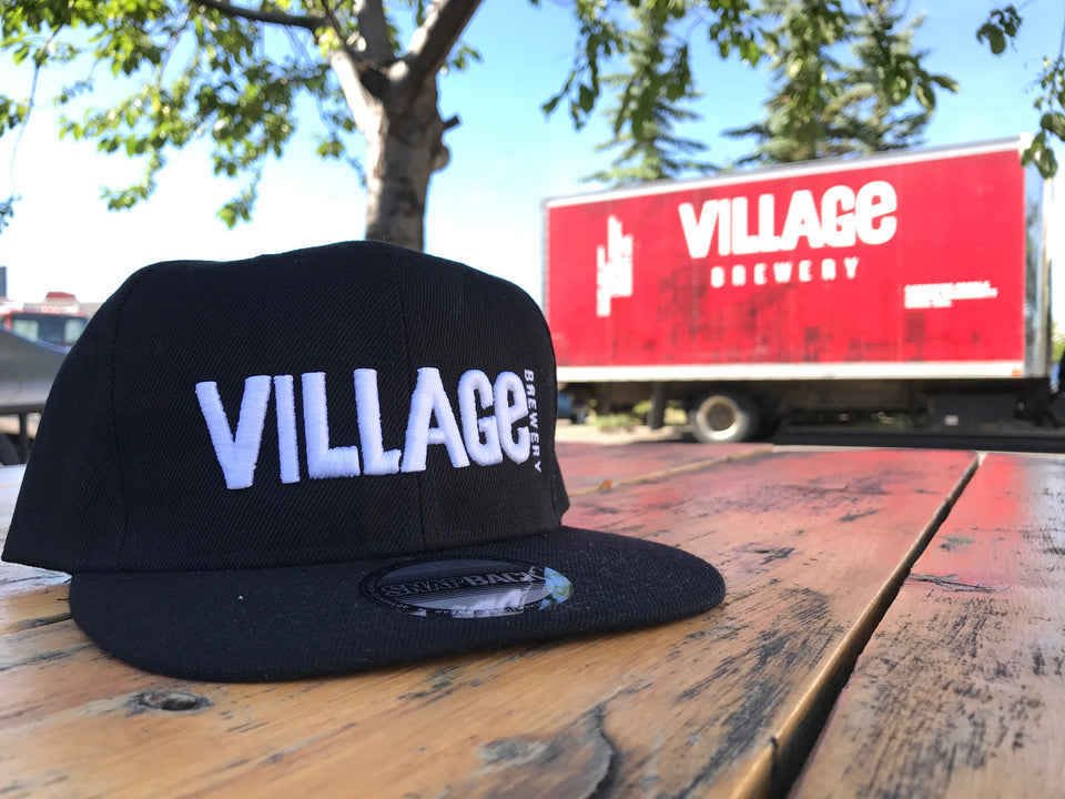 VB White on Black Snap Back Hat