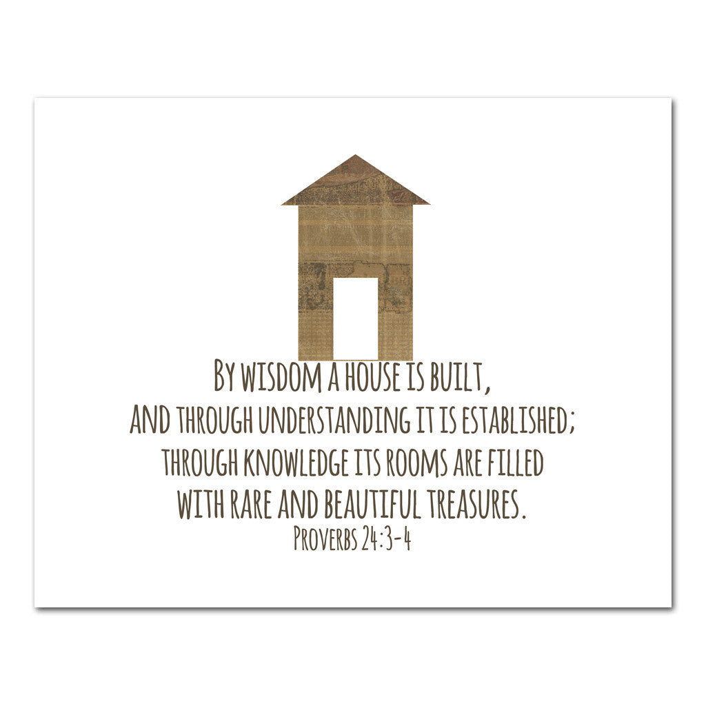 Christian gift scripture art a house is built studiojru negle Image collections