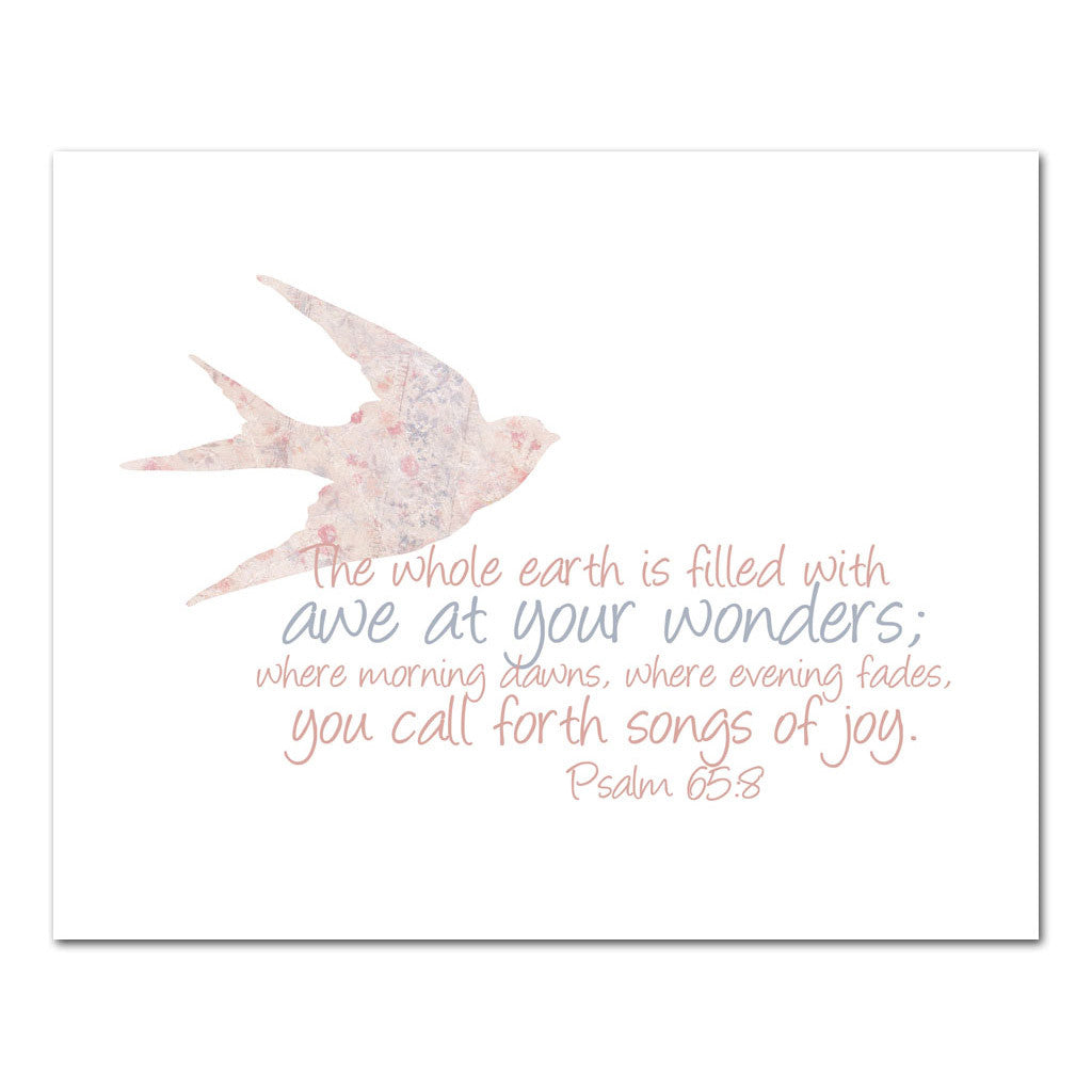 filled with love scripture art