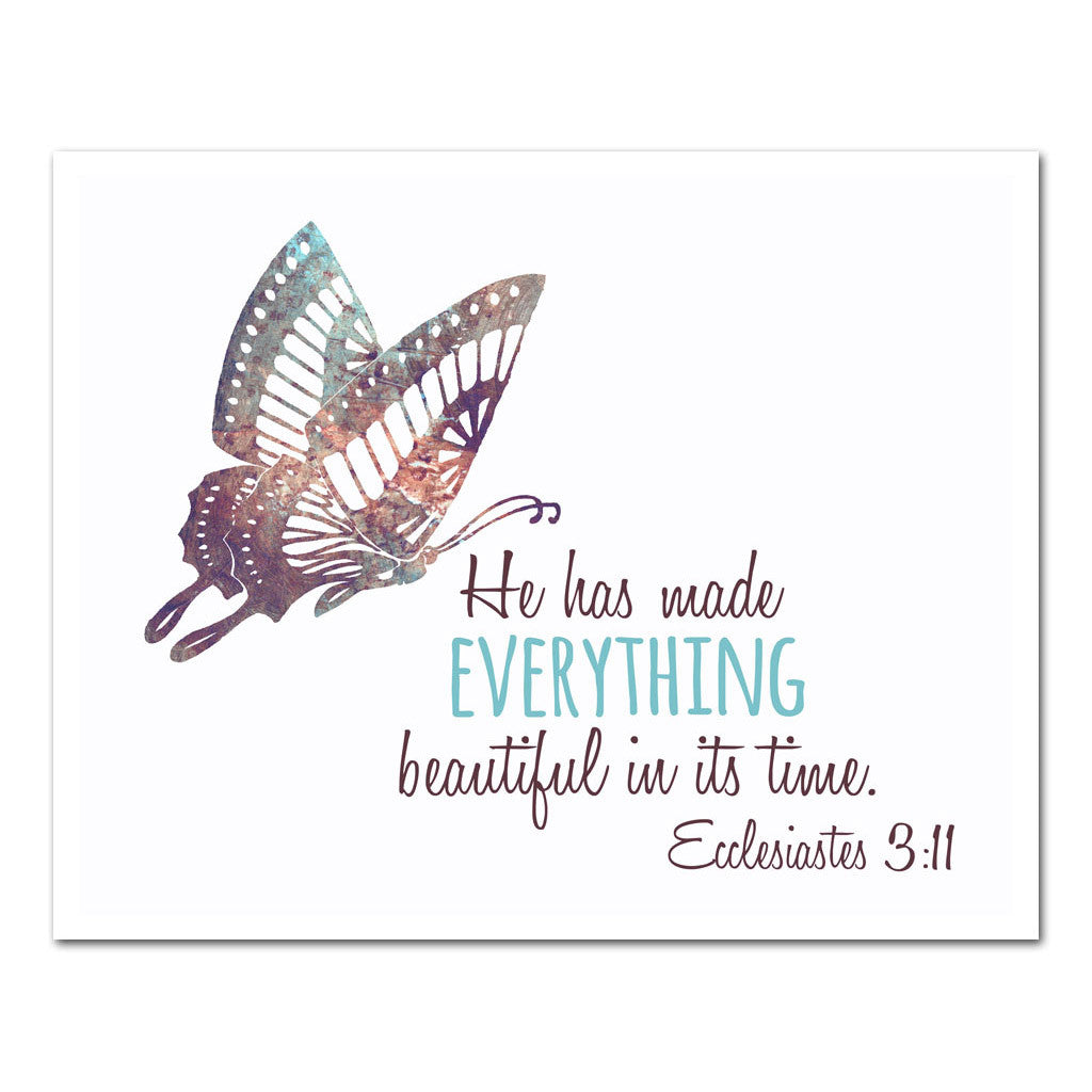 everything beautiful in its time scripture art