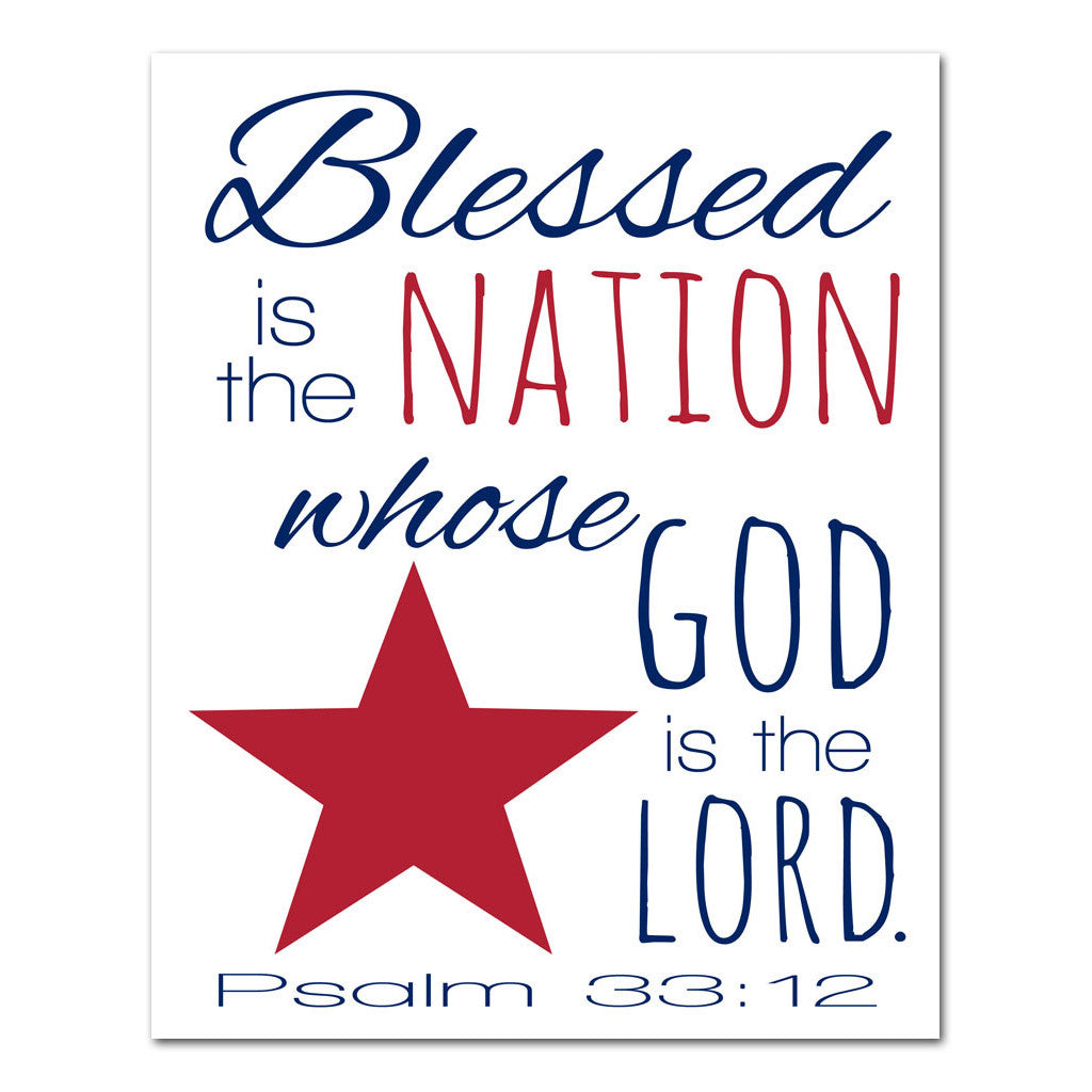 blessed is the nation scripture art