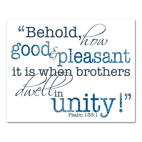 brothers dwell in unity