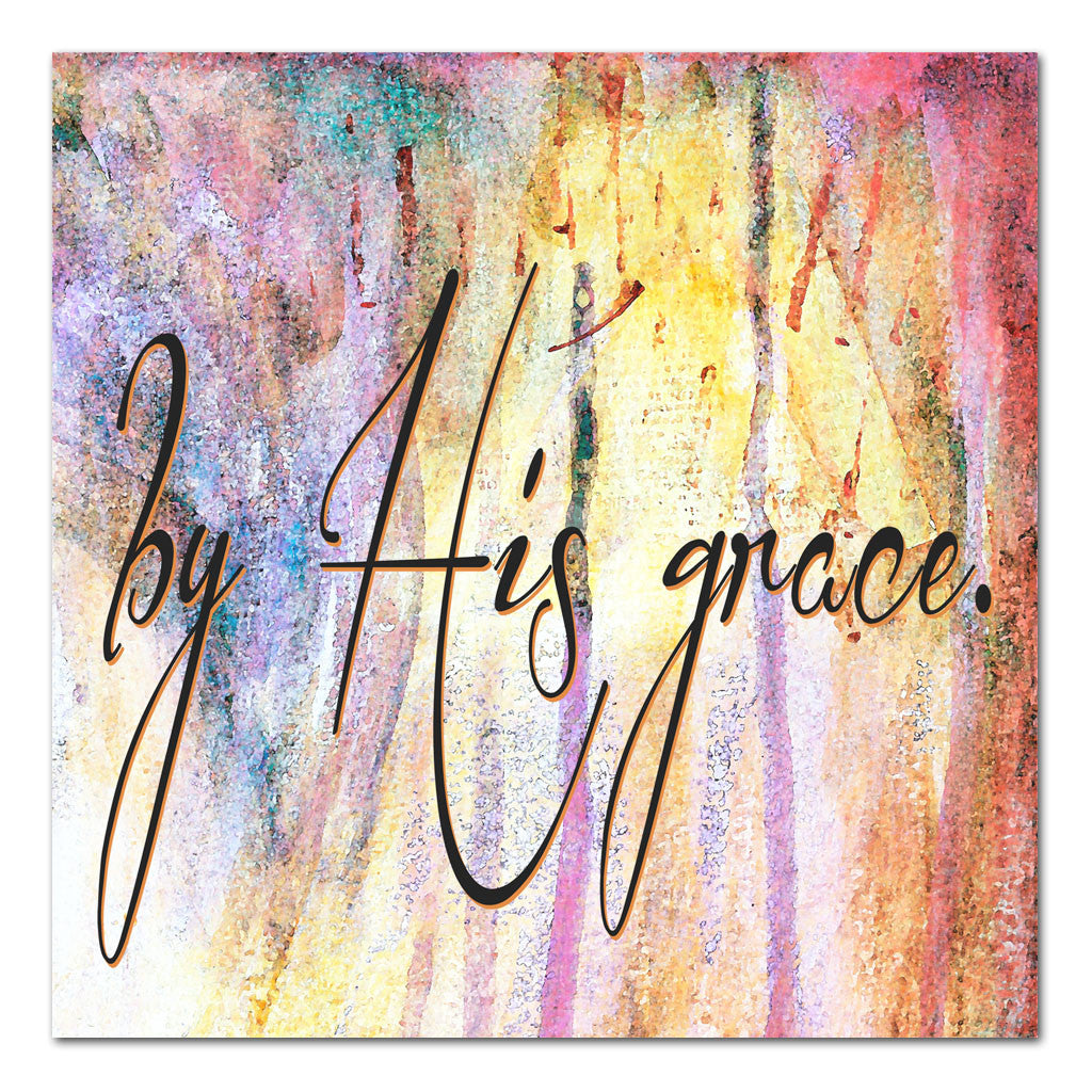 by His grace 12x12 art