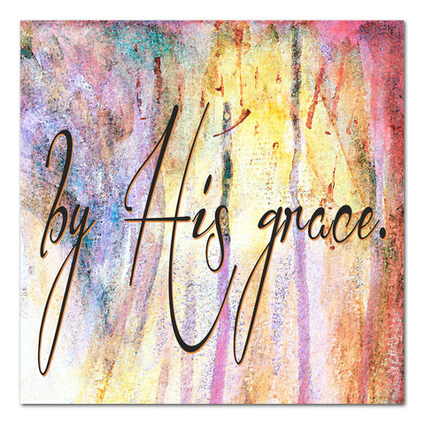 by His grace 12x12