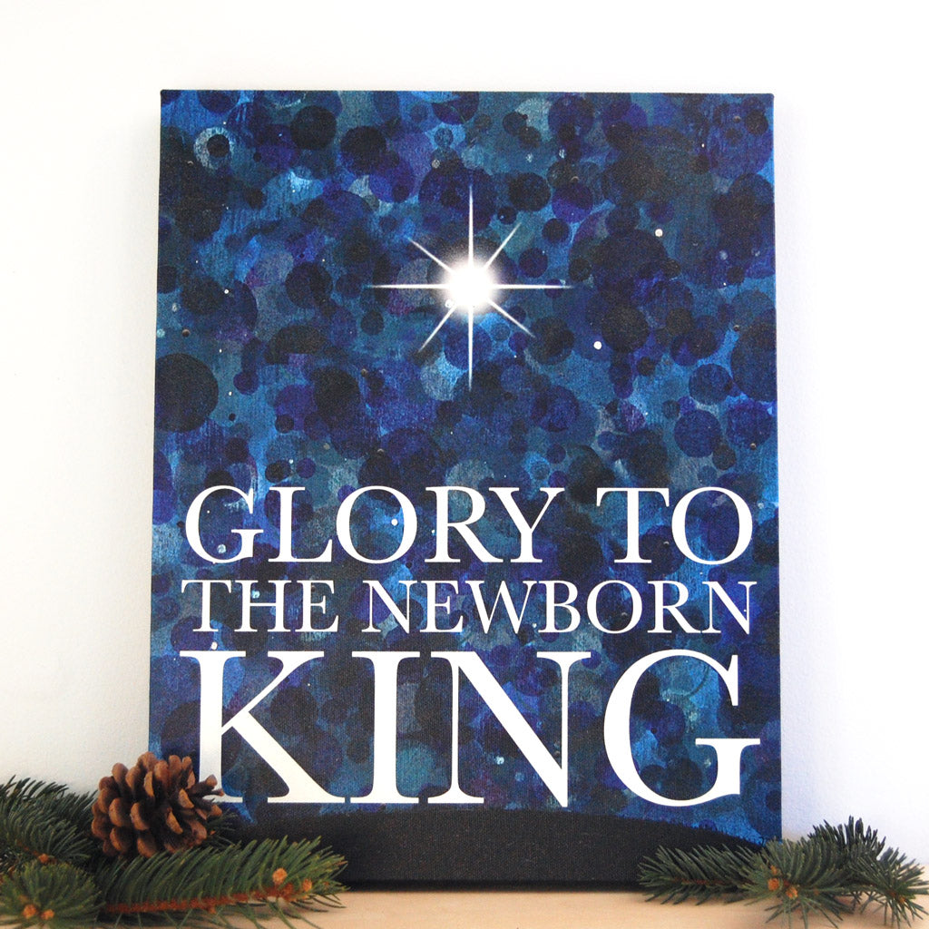 King night sky canvas