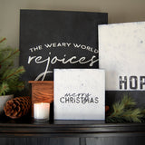 World Rejoices Canvas (white)