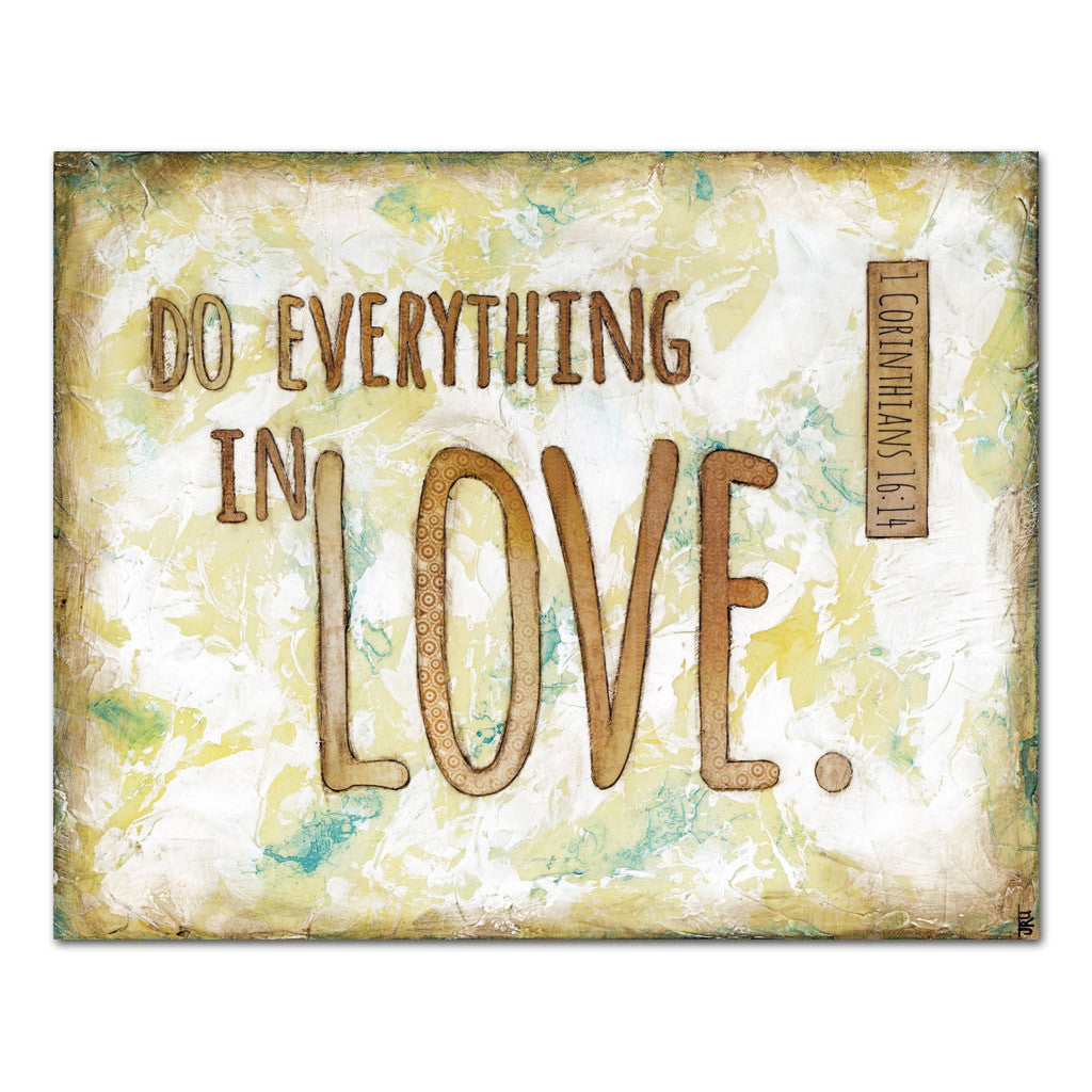do everything in love scripture art
