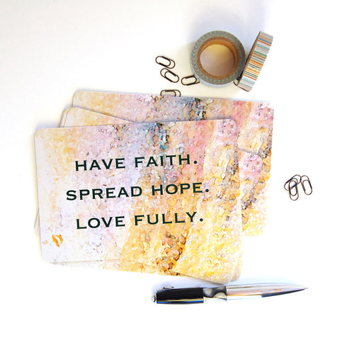 faith, hope, love postcards