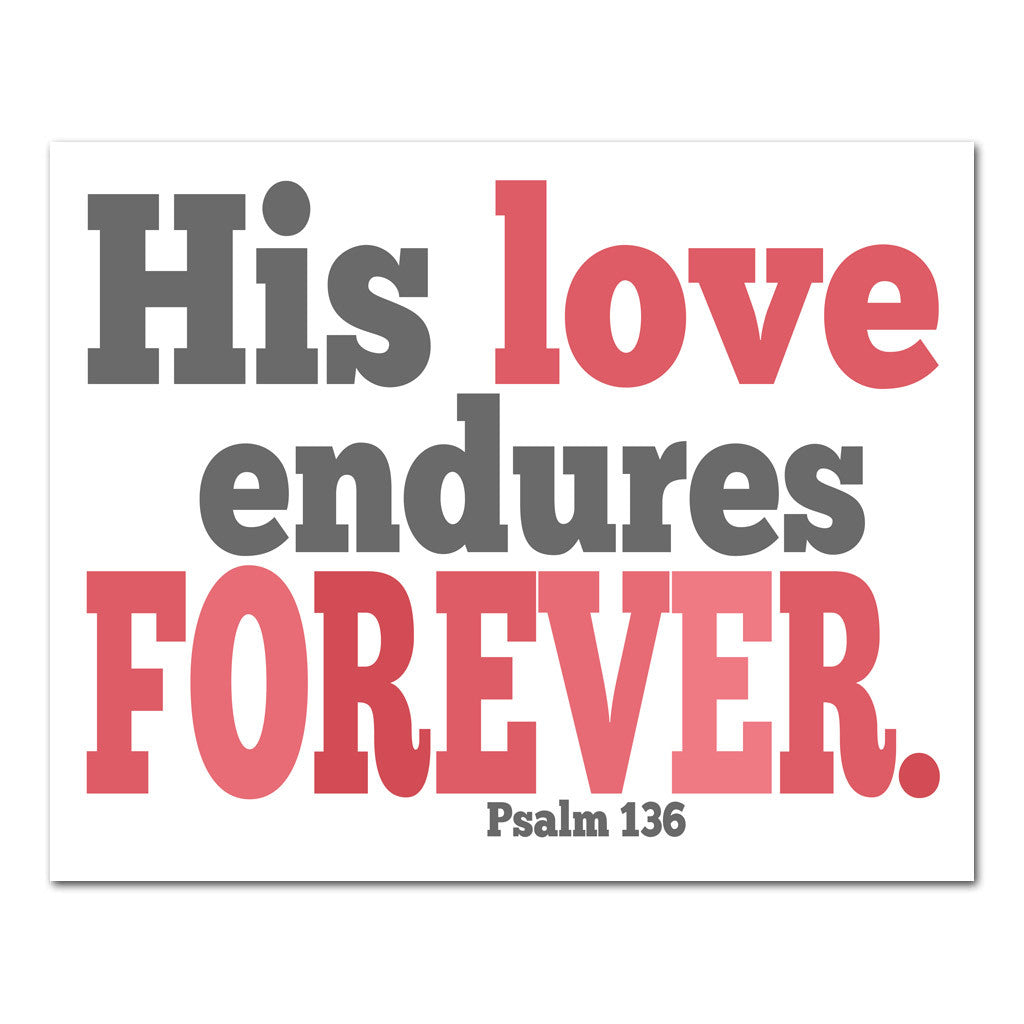 His love endures scripture art