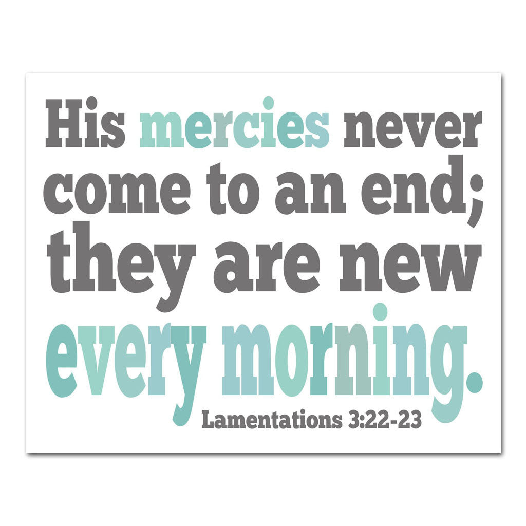 His mercies never end scripture art