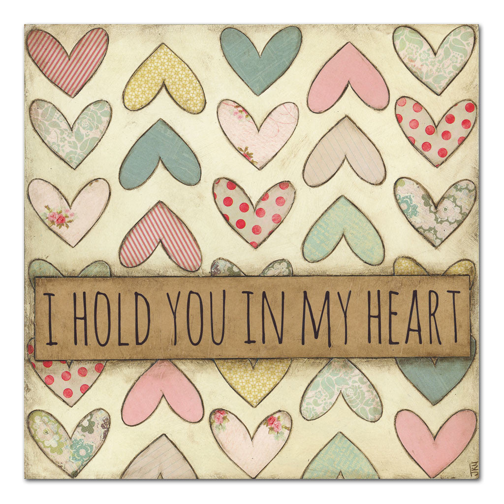 hold you in my heart inspirational art