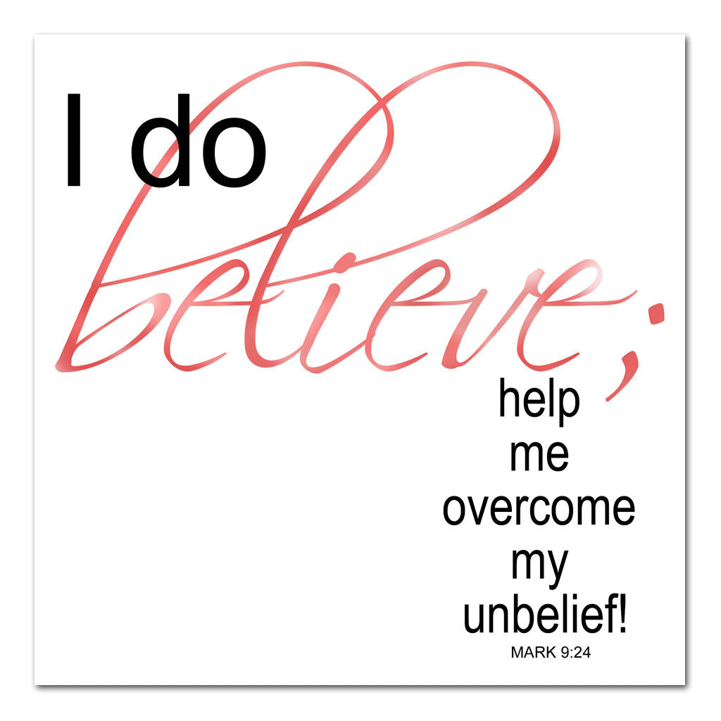 help my unbelief scripture art