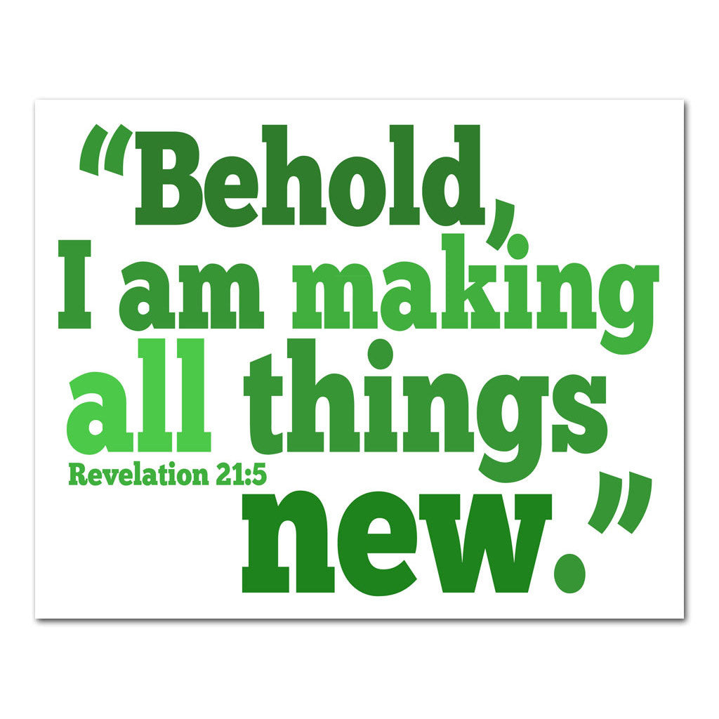 He makes all things new scripture art