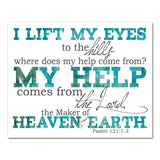 i lift my eyes to the hills scripture art
