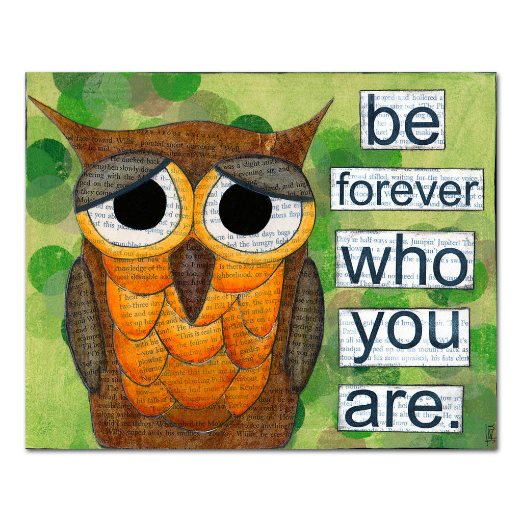 be who you are owl art