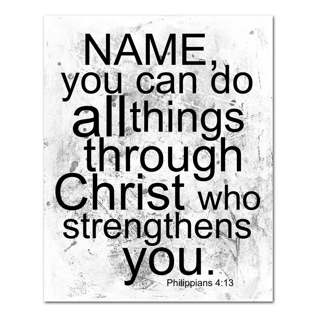 you can do all things through Christ personalized scripture art