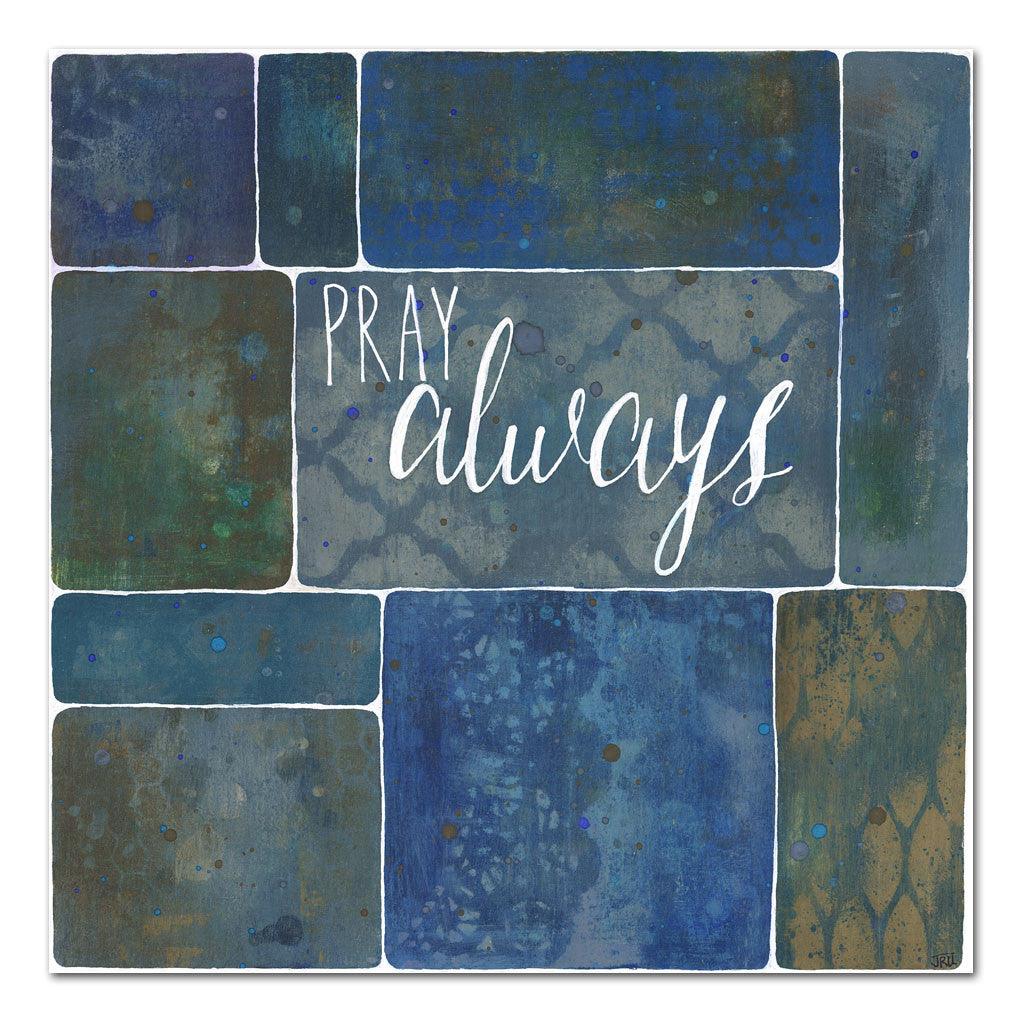 pray always inspirational faith art