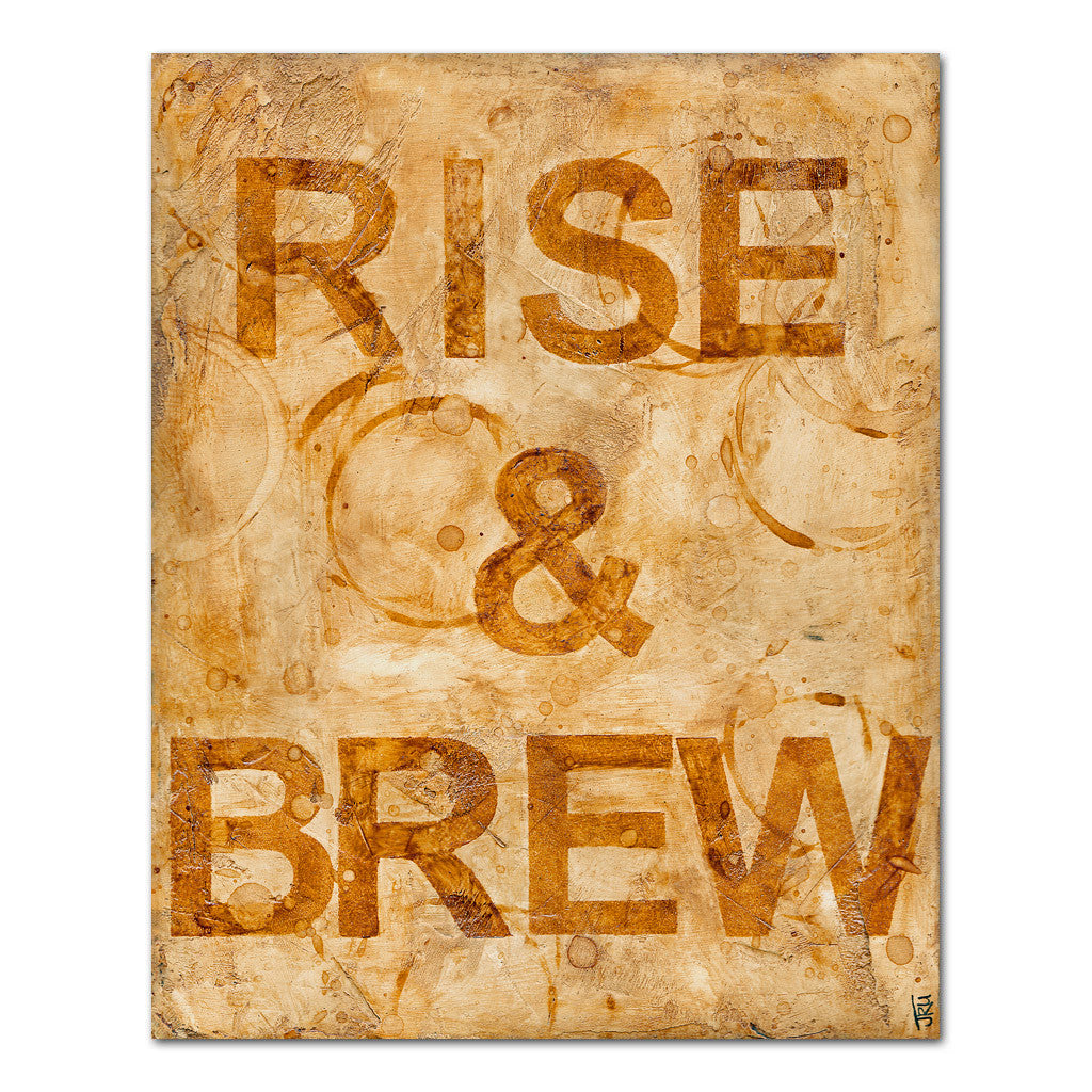 rise and brew coffe art