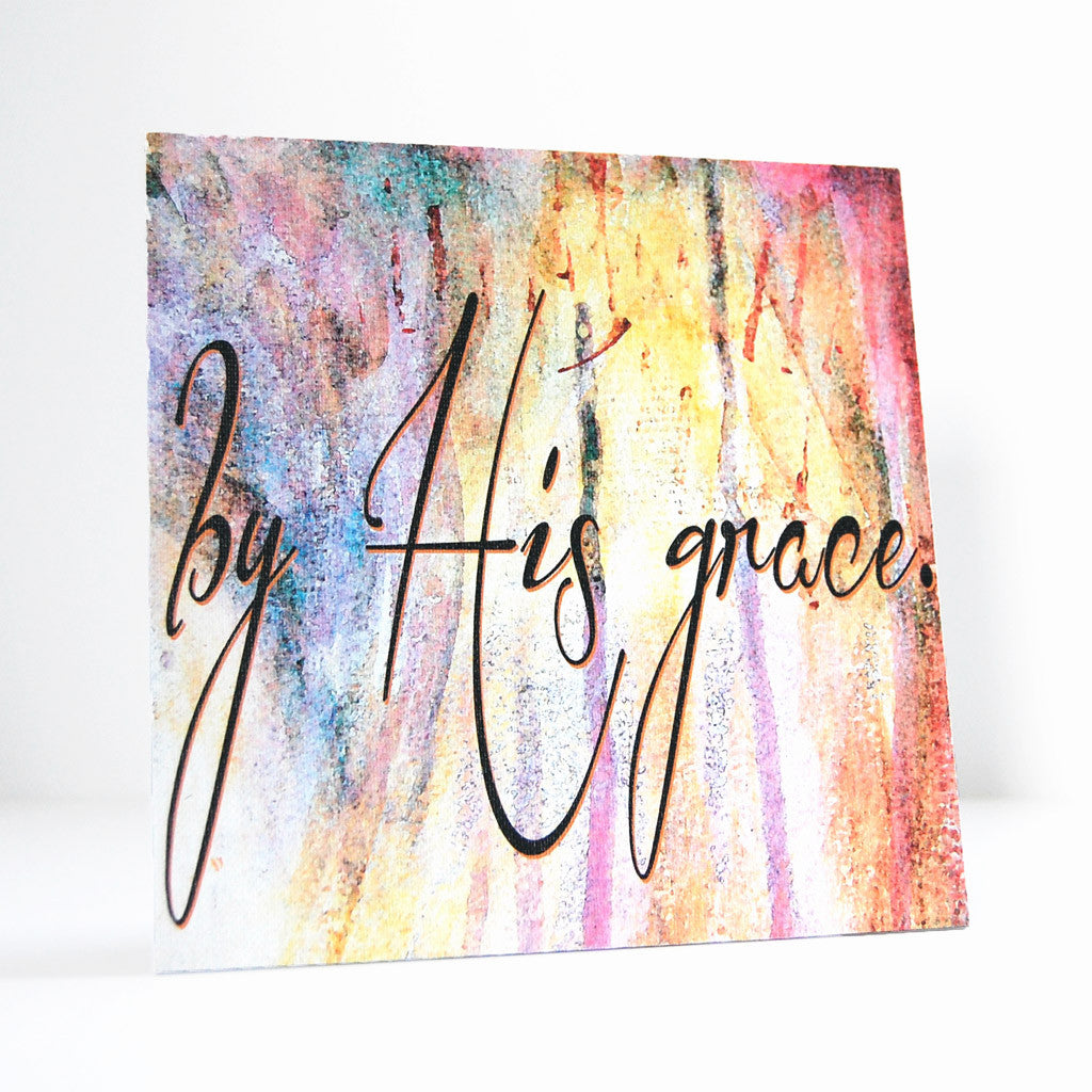 by His grace canvas art