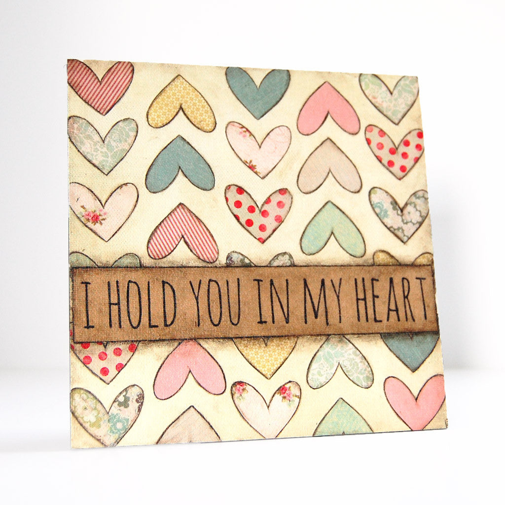 hold you in my heart canvas art
