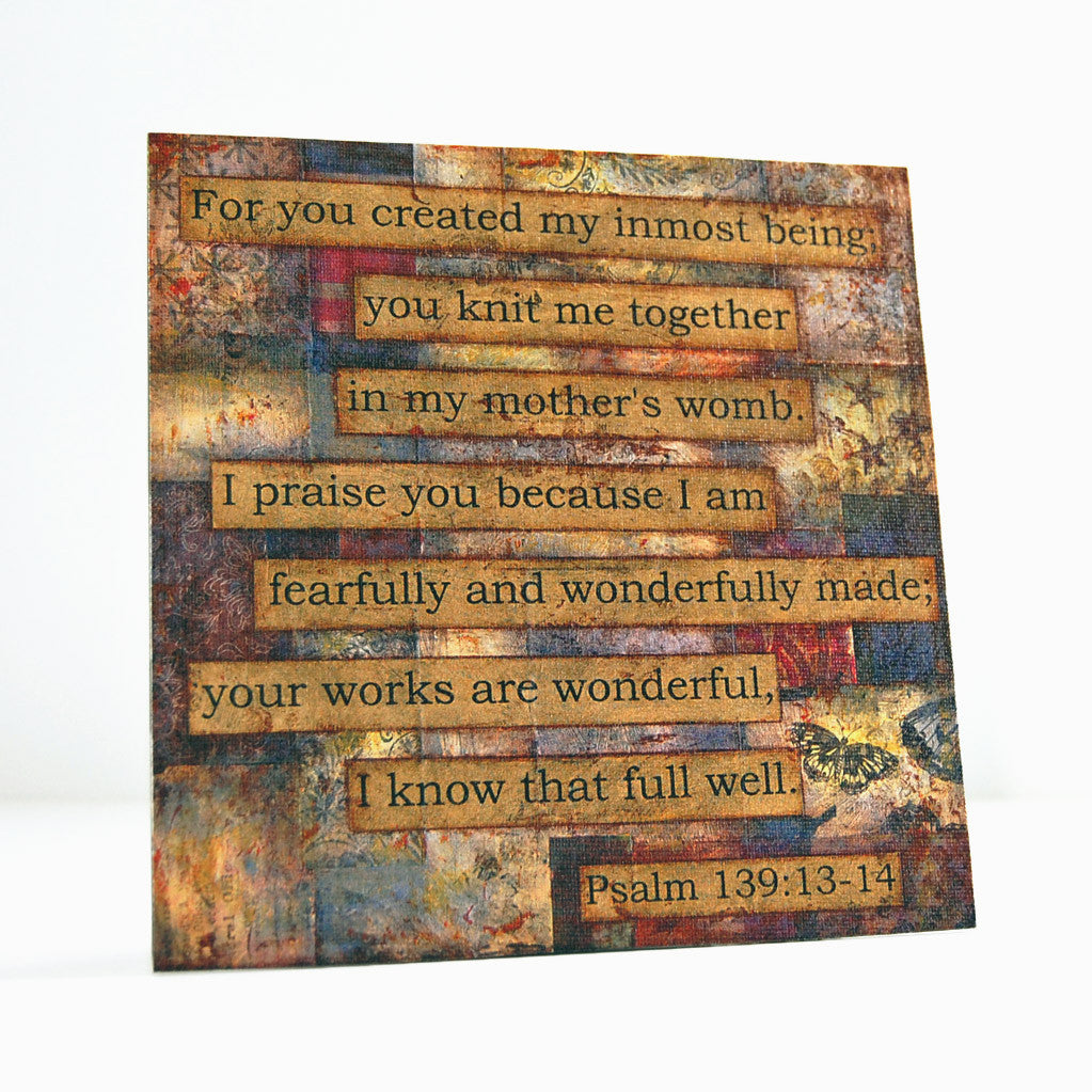 Psalm 139 scripture canvas art